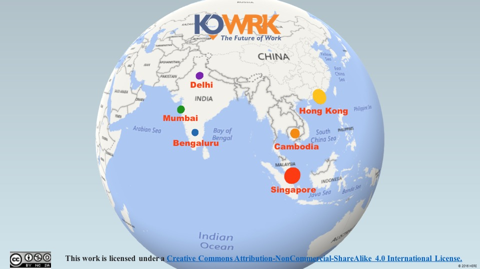 coworking spaces price comparison across Asia kowrk