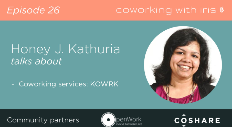 Kowrk's Founder at Coworking with Iris