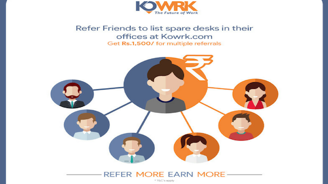 Shared Office - Refer Friends and Family Kowrk