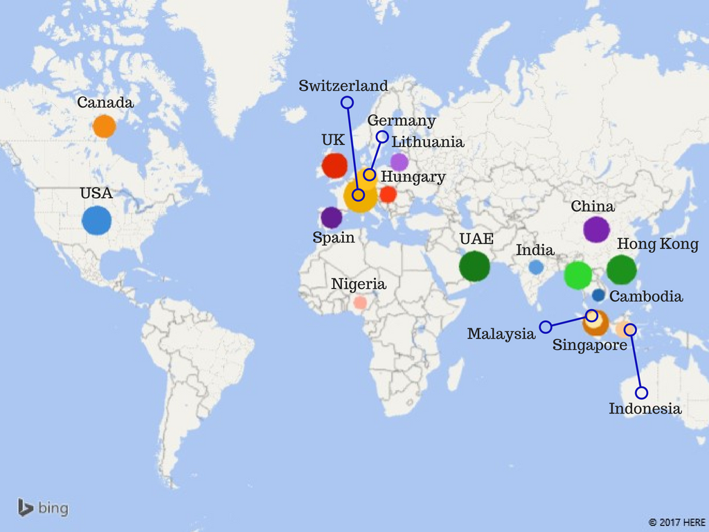 Price Heat Map - Coworking Trends Across The World