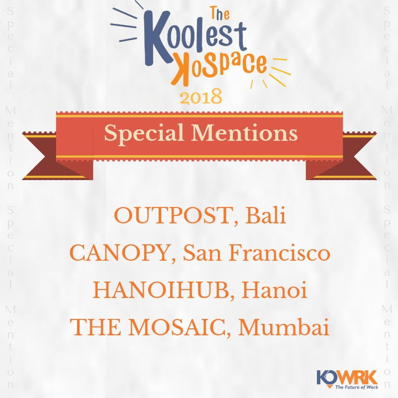 Koolest Kospace 2018 Special Mention